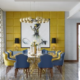 Interior decorating project Emirates Hills in Dubai